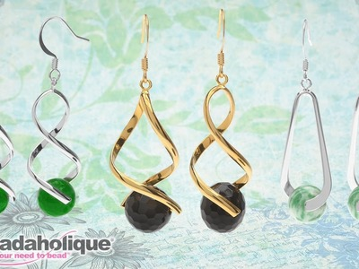 How to Make the Gemstone Pinch Bail Earring Kits by Beadaholique