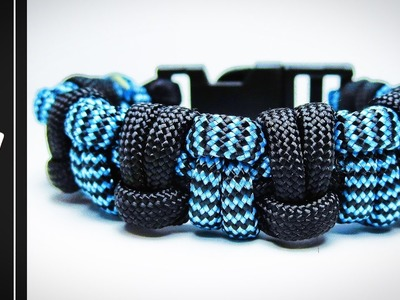How to make the Modified Half Hitch Paracord Survival Bracelet [With Buckle] [Tutorial]