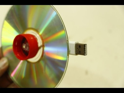 How to make USB light with CD Disc at home - diy life hacks