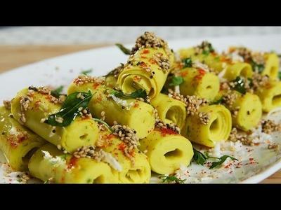 Khandvi Recipe | Gujarati Recipes | How To Make Khandvi | Gujarati Snack Recipe | Ruchi's Kitchen