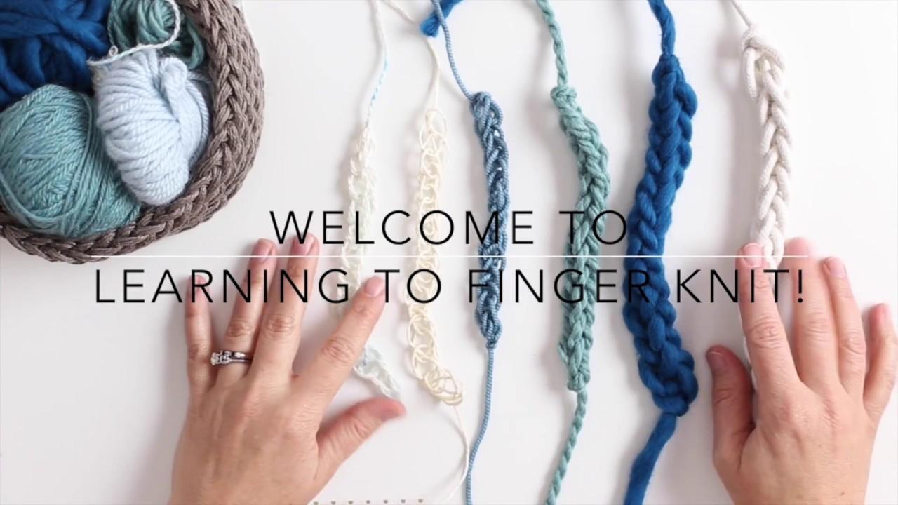 learn how to finger knit. Black Bedroom Furniture Sets. Home Design Ideas