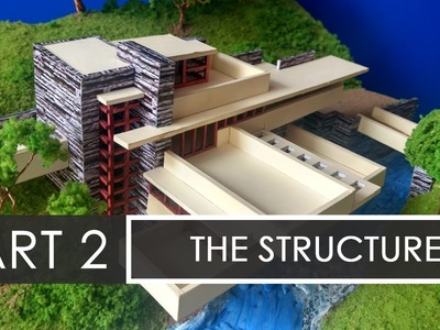 Part 2   How to make a model of Falling waters   Model Making with Sumit