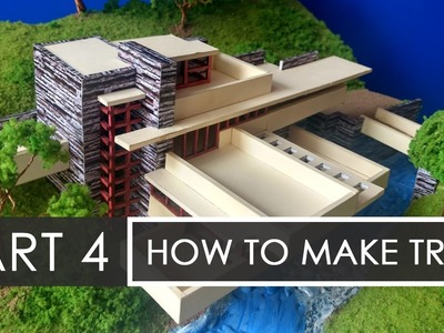 Part 4 | How to make Trees | Falling waters | Architecture Model Making