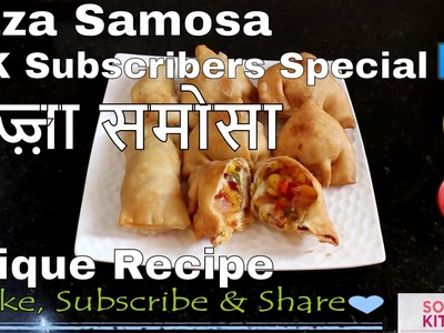 Pizza Samosa | Unique & Tasty | Easy & Fast | How to make Pizza | For Beginners by Somya's Kitchen