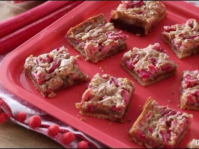 Seasonal Recipes - How to Make Rhubarb Shortbread Bars