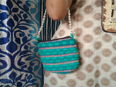 The Best Out Of Waste Cloth || How to Make Fabric Purse With Waste Cloth || Sewing Pouch At Home