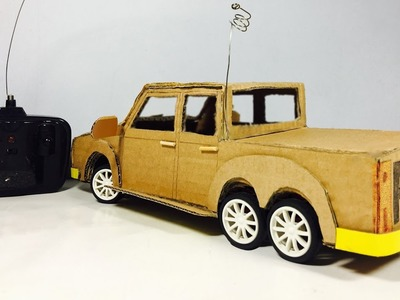Wow! AWESOME Ford Ranger DIY - How to make a Powered RC Car using DC Motor at home easy