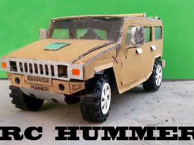 WOW! Super RC Hummer Car || How to make RC Hummer Car out of paper Simple 9v Battery DIY at home
