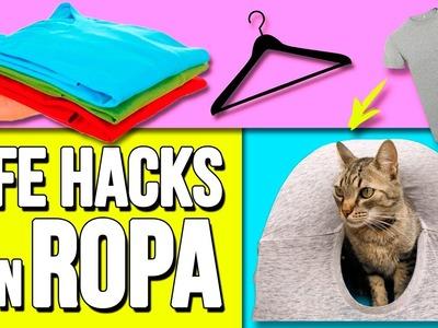 20 Awesome CLOTHES LIFE HACKS * Los mejores TRUCOS con ROPA ✅  Top Tips & Tricks en 1 minuto