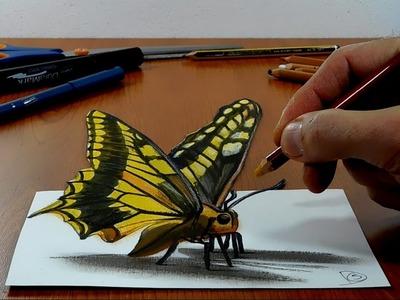 3D Trick Art on Paper, Butterfly, Long Version