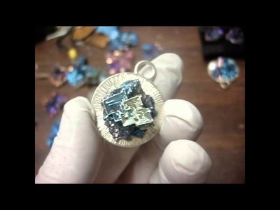 Bismuth Crystal Jewelry Showcase