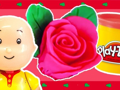 Caillou Toys for Kids - How To Make a Play Doh Rose | CAILLOU CRAFTS | Toys for Kids