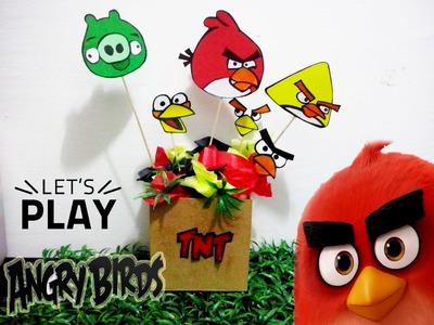 Centro de Mesa de Angry Bird. Angry Bird Movie Centerpiece