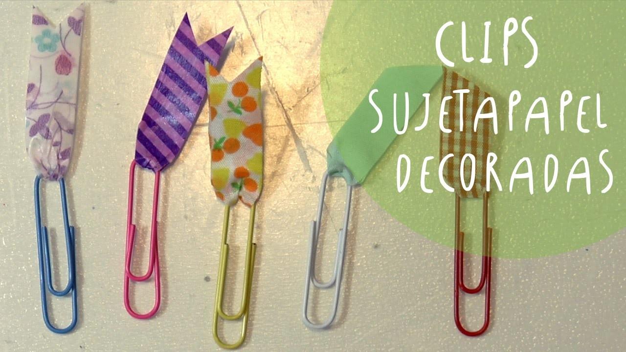 Como decorar clips sujetapapel con washi tape cinta decorada - Decorar con washi tape ...