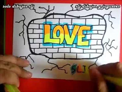 Como dibujar un graffitis de amor how to draw graffiti desenhar grafites how to draw love