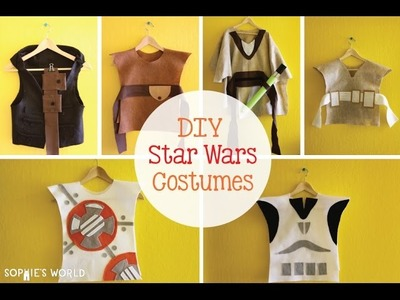 Create Your Own No Sew Star Wars costumes | Sophie's World