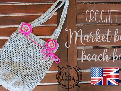 Crochet market. beach bag   MARYJ HANDMADE