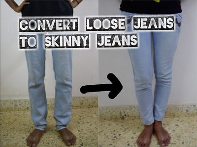 DIY: Convert Loose Jeans to Skinny Fit Ankle Length Jeans in Just 15 Mins