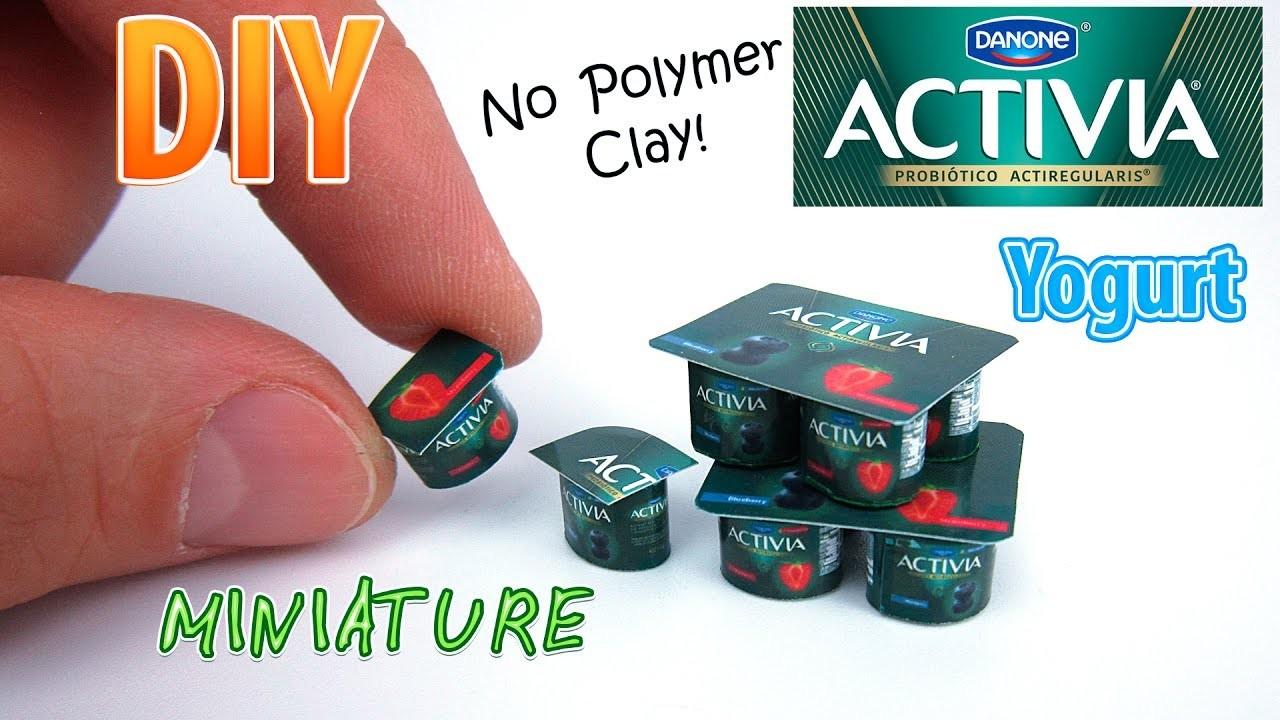 diy miniature dannon activia yogurt dollhouse no polymer clay. Black Bedroom Furniture Sets. Home Design Ideas