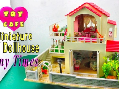 "DIY Miniature Dollhouse Kit With Working Lights ""Tiny Times"""