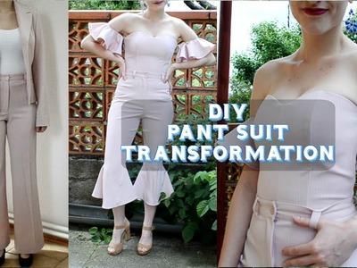 DIY Pant Suit Transformation. DIY premena kostýmu (EN,SK)