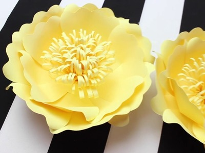 DIY Paper Flower Backdrop | Spring Colors | Template #11