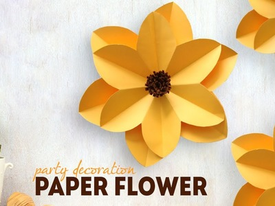 DIY: Party Decoration Paper Flower