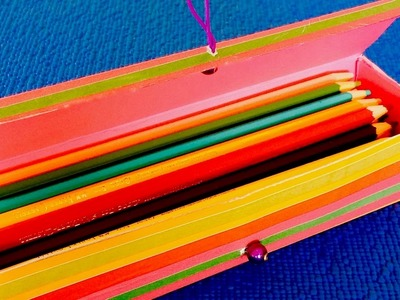 DIY: Pencil box ✍ Organizer out of the box from toothpaste