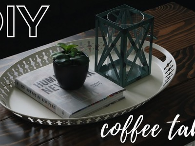 DIY RUSTIC COFFEE TABLE! | AN EASY HOW-TO GUIDE!