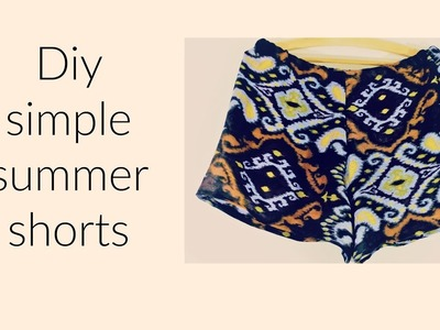 Diy simple summer shorts from old scarf