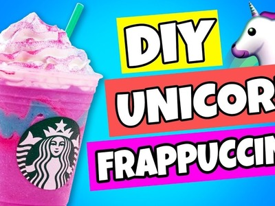 DIY STARBUCKS UNICORN FRAPPUCCINO SLIME | How To Make Fluffy Unicorn Frappe Slime At Home