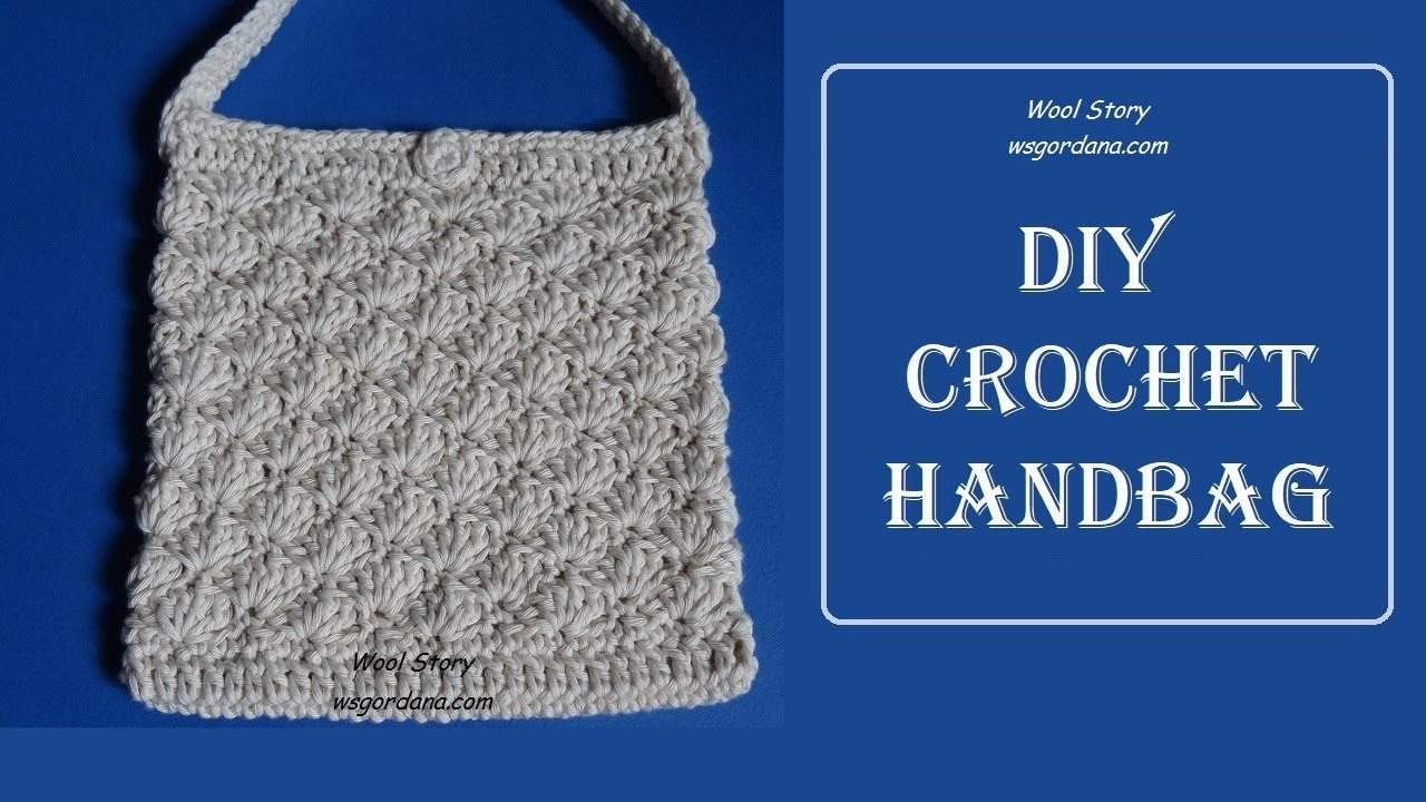 DIY Tutorial - Crochet Easy Cute Handbag (Heklana torbica)