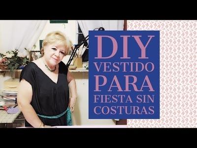 DIY - VESTIDO PARA FIESTA SIN COSTURAS. DIY - COSTUME PARTY DRESS WITHOUT SEWING