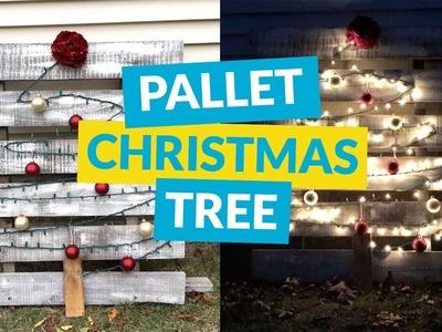 Easy Christmas Tree Pallet!