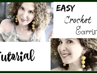 Easy Crochet earrings Tutorial