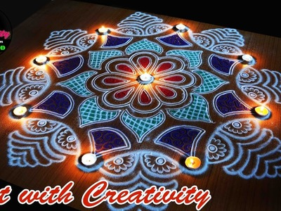 Easy Rangoli  | special | Art with Creativity 171