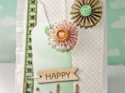 Finally Friday: Birthday Lanterns Card (Two Peas In A Bucket)