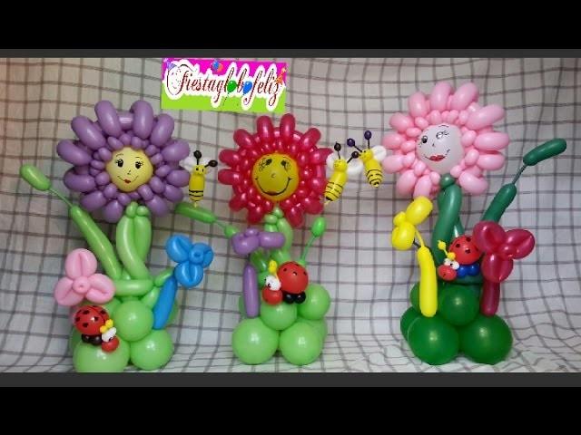 Flor  grande centro de mesa paso a paso con globos