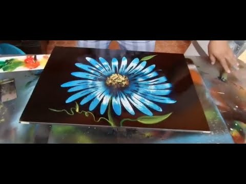 Flor Margaritas spray paint art