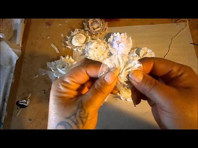 FLOWER Tutorial - super shabby using rossette trim - tut