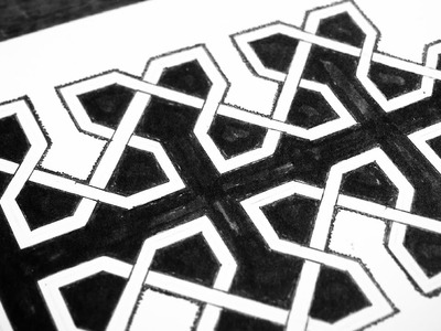 ☼ Freestyle Geometric Weave Pattern (HOW TO ✏)