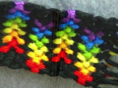 ► Friendship Bracelet Tutorial - Rainbow Stripe. Arrows