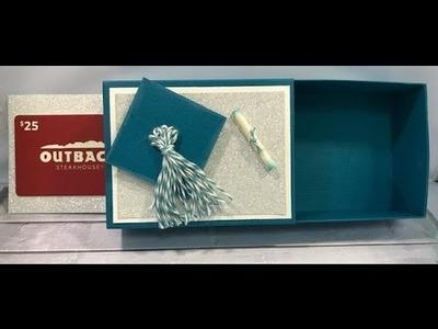 Graduation Gift Box with Hidden slider card