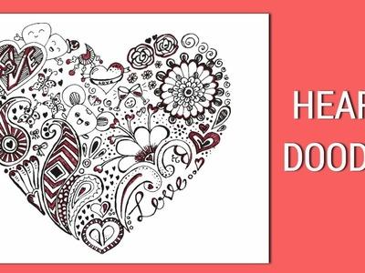 Heart Doodle | Love Doodle art | valentine doodle