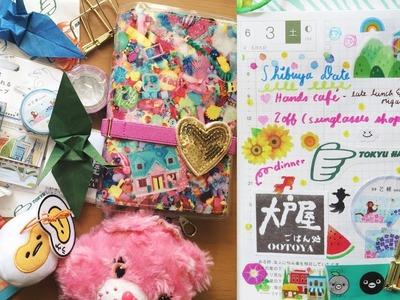 Hobonichi With Me | Kawaii Shinkansen Cut-out Washi Tape + Origami Hobby! ????