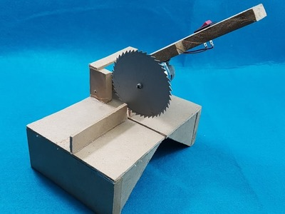 Homemade 12v Powerful Miter saw - How to Make a Mini Home Table Saw