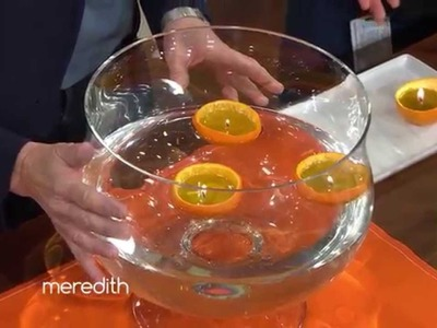 Homemade Orange Candle | The Meredith Vieira Show