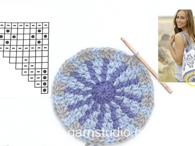How to crochet the beginning of A.1 in DROPS 177-1