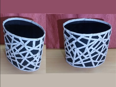 How To Make A Basket From Paper | DIY Basket Making | Best Out Of Waste | Newspaper Craft