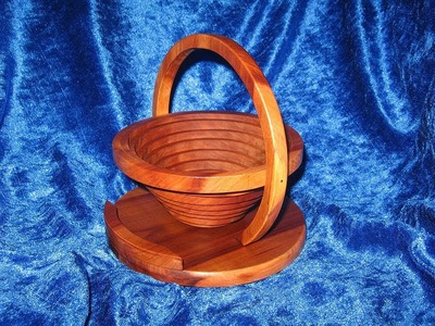 How to make a Collapsible Wooden Basket. Bowl with a Scroll Saw - Woodworking